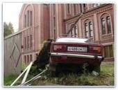 """На машине """"случайно"""" приехали в церковь"""