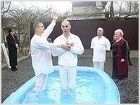 Во Владикавказе 33  человека  заключили  водный  завет с  Господом
