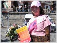 Христианская писательница, автор-исполнитель популярных песен выступила на Красной площади