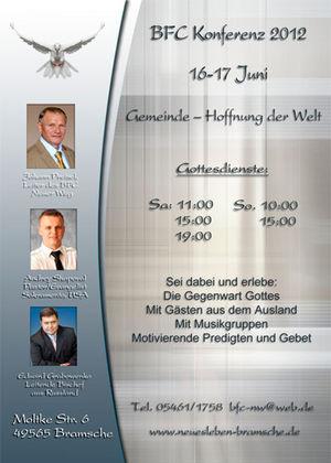 Начальствующий епископ РЦ ХВЕ  принял участие в форуме Союза независимых церквей Германии