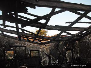 В Енакиево сгорел молитвенный дом христиан-адвентистов седьмого дня