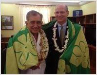 Президент Всемирной адвентистской церкви встретился с президентом Французской Полинезии