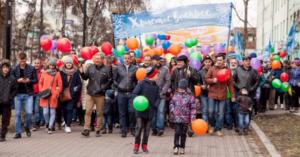 Пасхальное шествие в Иркутске